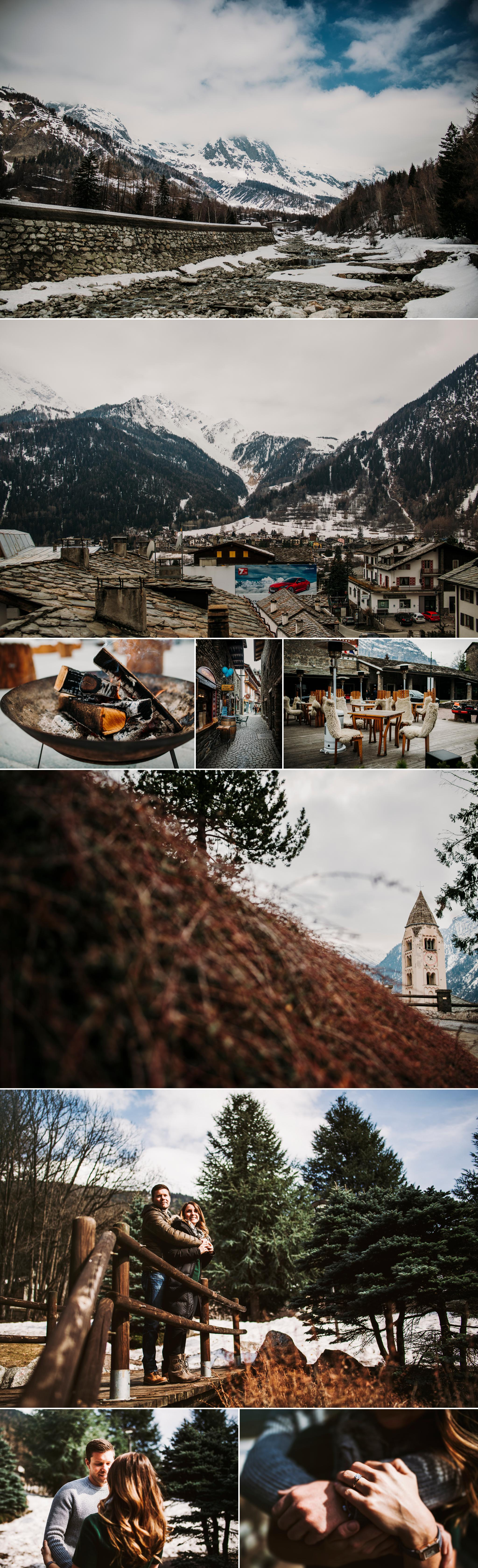 Engagement in Courmayeur